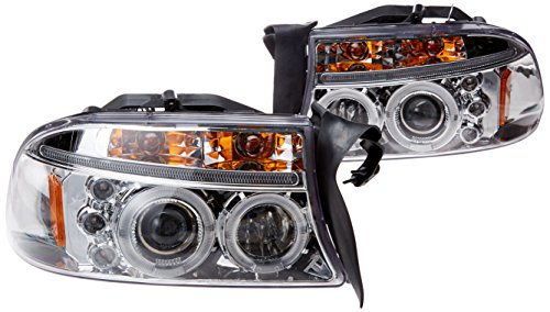 Spec-D Tuning 2LHP-DAK97-TM Dodge Dakota Led Chrome Clear Projector Halo Head Lights