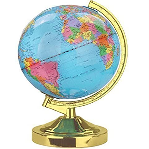 Illuminating polished brass world globe touch table lamp novelty illuminating polished brass world globe touch table lamp novelty map earth atlas desk light mozeypictures Gallery