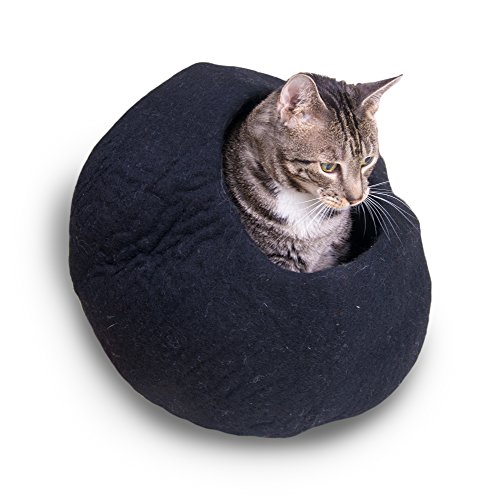 Xtra Pressure Washer (Cat Cave Cozy Bed, Exclusive Felted Wool - Pet Infinity (Black))