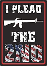 Rivers Edge Products I Plead The Second Tin Sign, 16-Inch