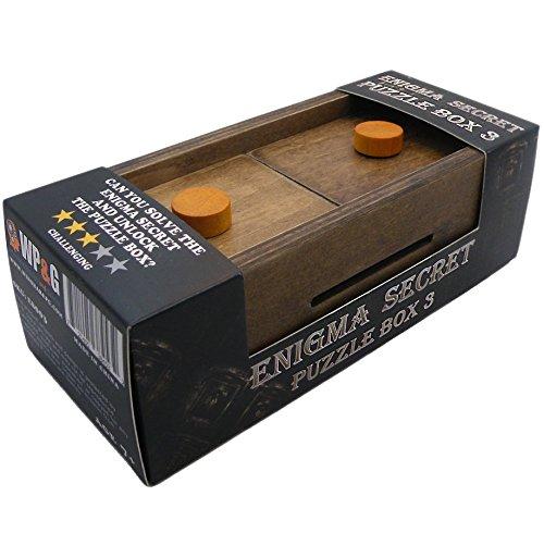 Enigma Secret Puzzle Box 3 Money Or Gift Card Trick Box Piggy Bank