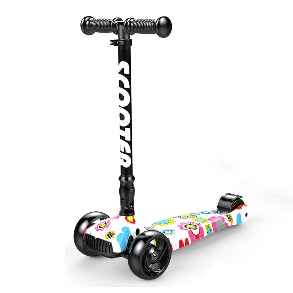 comprar marca G Rff Kick Scooter de de de 4 Ruedas para niños de 2 a 11 años de Edad. Uso de la Rueda de luz LED Plegable de Altura Ajustable para soportar Peso de 80 kg. (Color   G)  punto de venta barato
