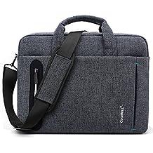 CoolBELL 15.6 inch Laptop Bag Messenger Bag Hand Bag Multi-compartment Briefcase Oxford Nylon Shoulder Bag For Laptop / Ultrabook / HP / Acer / Macbook / Asus / Lenovo / Men/Women (New Grey)