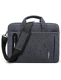 CoolBell 17.3 inch Laptop Bag Messenger Bag Hand Bag Multi-compartment Briefcase Oxford Nylon Shoulder Bag For Laptop / Ultrabook / HP / Acer / Macbook / Asus / Lenovo / Men/Women (New Grey)