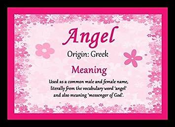 ángel Personalizada Nombre Significado Alfombrilla De Ratón Amazon