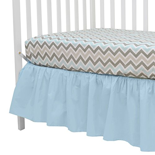 American Baby Company 100 Natural Cotton Percale Ruffled