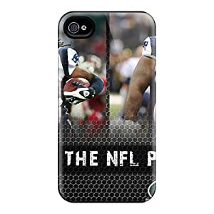 Nfl New England Patriots Football Soft Gel Tpu Rubber Skin Cover Case Compatible With For Iphone 4/4S Cover