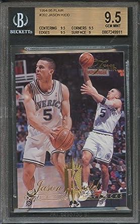 8e68784e9 1994-95 flair  202 JASON KIDD dallas mavericks rookie BGS 9.5 (9.5 9.5