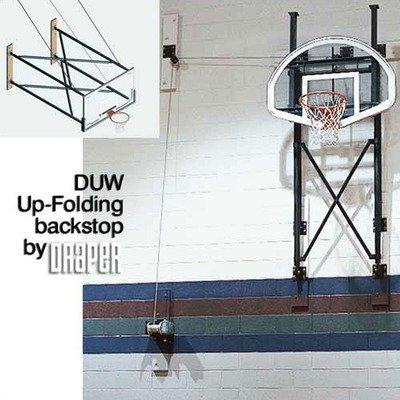 Duw fold-up壁マウントバスケットボールBackstop拡張子: 10 ' B004I0OHUM