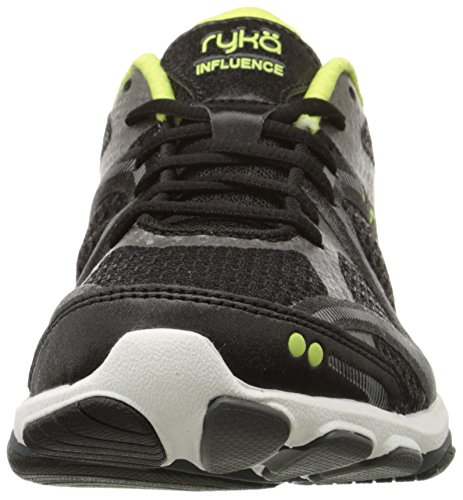 Sharp Metallic Women's Synthetic Black Grey Forge Running Influence Shoes Green Ryka ATR1H
