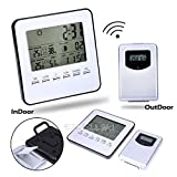 FidgetFidget Wireless Indoor/Outdoor Weather Forecaster Station Thermometer Humidity Clock