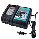 New Replacement 3.0Ah Charger with LCD Screen, USB Port for Makita 14V to 18V DC18RC DC18RA BL1840 BL1850 BL1820 BL1815 BL1430 BL1440 BL1450 Power Tool Lithium Battery Charger Lithium Battery Charger
