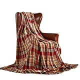 MERRYLIFE Throw Blanket Plaid| Ultra-Plush Soft Colorful Oversized | Decorative Couch Travel Blanket | (50