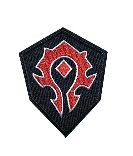 Application-Anime-Game-Classic-World-of-Warcraft-Horde-Cosplay-Badge-Embroidered-Iron-or-Sewn-On-Applique-Patch