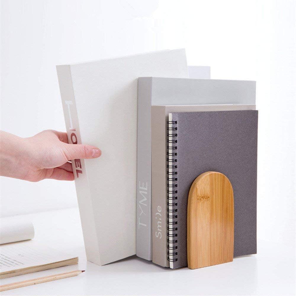 1 pezzi di legno di bamb/ù fermalibri grande capacit/à ufficio fermalibri Heavy Duty Storage Bookshelf Tidy leggio per libri per la decorazione della casa ufficio biblioteca scuola studio