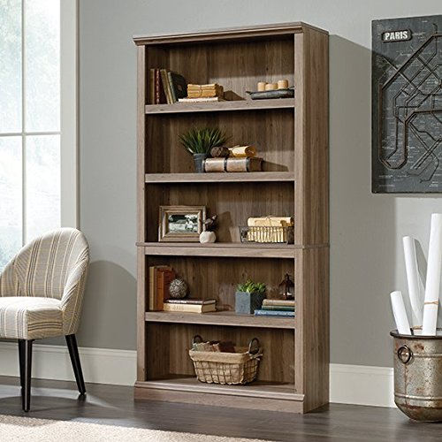 sauder-select-5-shelf-bookcase-in-salt-oak