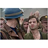 Sebastian Stan (8 inch by 10 inch) PHOTOGRAPH Marvel as Bucky Barnes from Chest Up w/Chris Evans kn