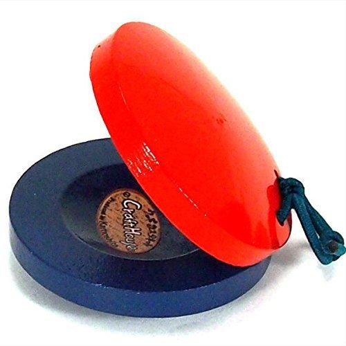 Japanese Wooden Kachi Kachi BON-ODORI Music Instrument Castanet, Made in Japan Yok-2837