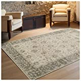 Superior Conventry Collection Area Rug, 8mm Pile Height with Jute Backing, Vintage Distressed Oriental Rug Design, Fashionable and Affordable Woven Rugs – 5′ x 8′ Rug Review