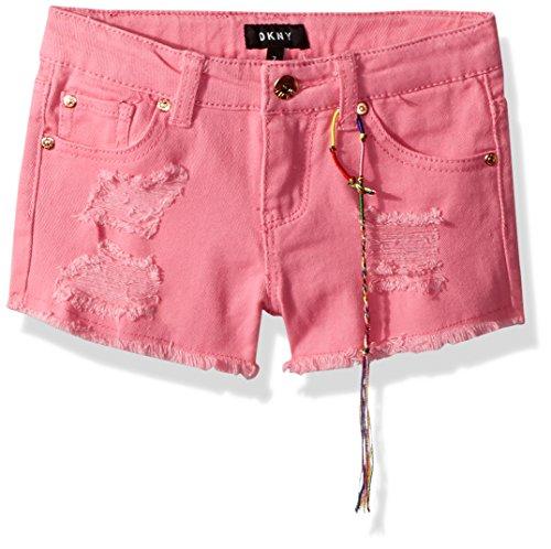 Repair Rip (DKNY Big Girls' Casual Short, Rip Repair Hipster Aurora Pink, 14)