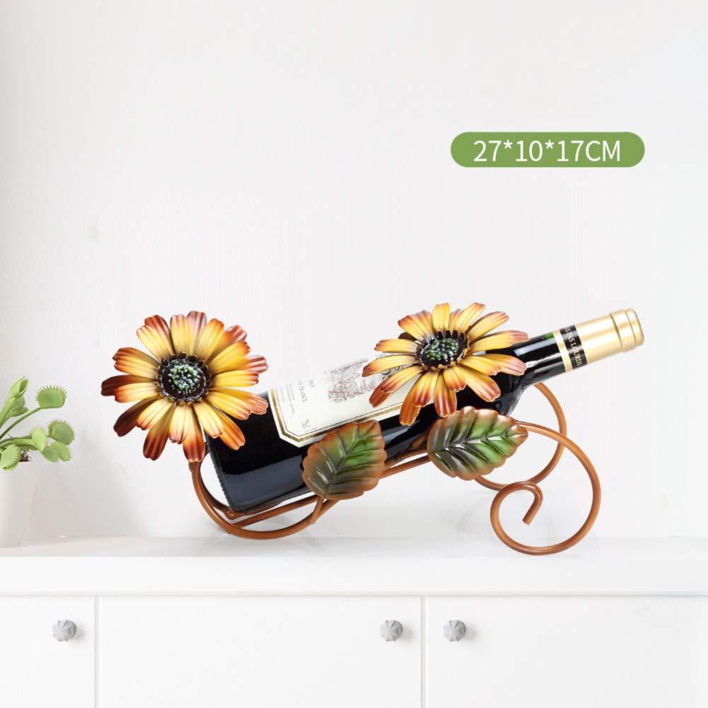 Creative Wine Bottle Holder,European Wine Rack,Crafts Decoration Wine Stand Holds for Living Room Kitchen Hotel-B 27x10x17cm(11x4x7inch)