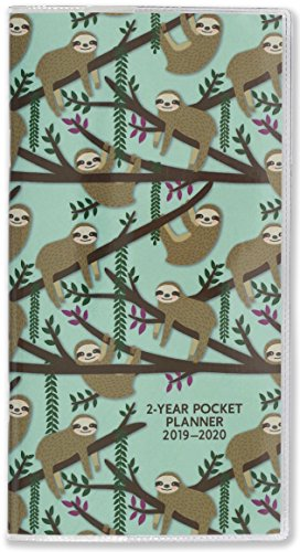 2019-20 Sloths 2-Year Pocket Planner (24-Month - Pocket Two Planner Year