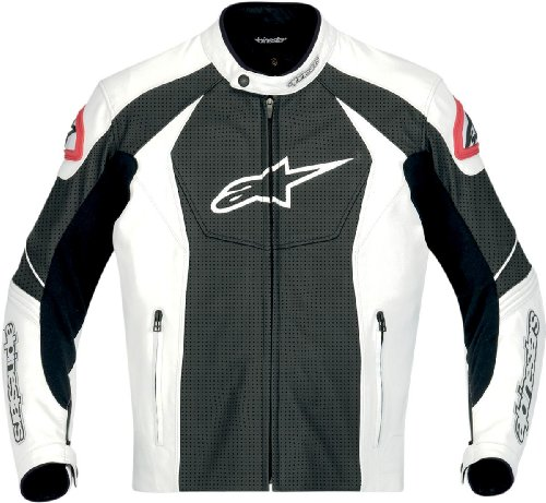 Alpinestars GP-R Perforated Leather Jacket (White/Black) (52)