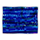 Kess InHouse Frederic Levy-Hadida ''Squares Traffic Blue'' Dog Blanket, 60 by 50-Inch