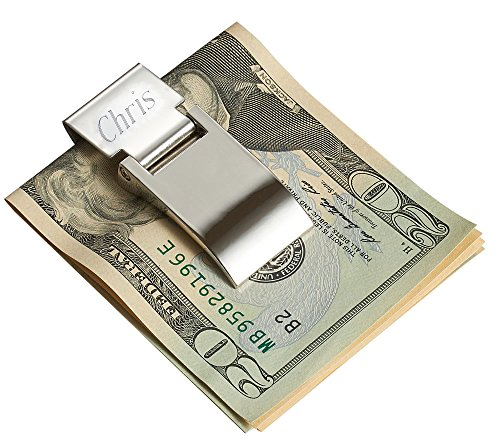 Personalized Hinged Money Clip with One Line Of Free Engraving