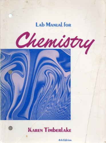 Lab Manual for Chemistry, 4th Edition
