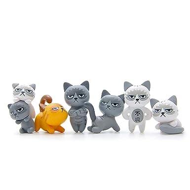 CAOSAN [6 Piezas] de Figuras de Gatos Infelices Juguetes, Decoración de Pasteles,