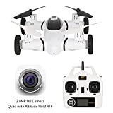 2 in 1 Flying Car Drone with 720P Camera Live Video,HT Drone Air-Ground Quadcopter with 3D Flip Camera Drone for Kids with Bonus Battery