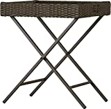 Side Bar Table Easy to Fold and Storage Resin Wicker is Durable and Easy to Maintain