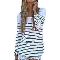 Womens Shirt,FUNIC Women Striped Autumn Casual Blouse Tops Pullover Sweatshirt