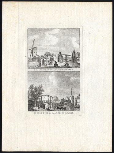 Antique Print-EDAM-CITY GATE-MONIKKENDAM-NETHERLANDS-Bendorp-Bulthuis-1790