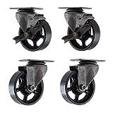 4 cast iron casters - (Set of 4) 4