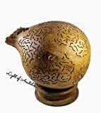 Gourd Lamp, Desk Lamp, Table Lights, Wood, Turkish Lights, Bohemian Decor, Boho Home Decor, French Country, Furniture, Hippie Room, Eclectic Furniture, Birthday Gift, Contemporary Decoration, Handmade