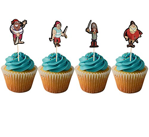 Ahoy Party Pirate Cupcake Toppers Set of 10 Pirate Cupcake Toppers Pirate Birthday Pirate Party Under the Sea Party