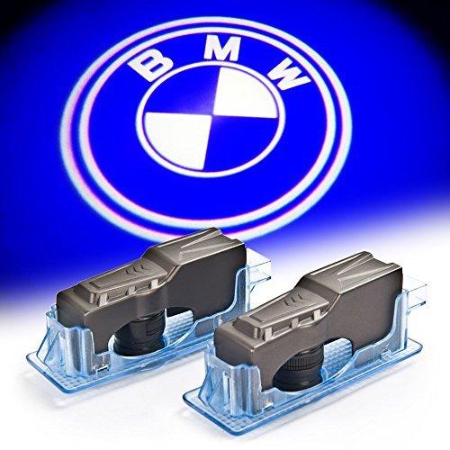 BAILONGJU BMW No Fading No Drilling No Rewiring Car Door LED Logo Projector Ghost Shadow Lights 2-pc Set