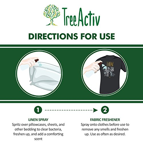 TreeActiv Natural Linen Spray | Kills Acne Causing Bacteria | Eliminates Odors | Fabric, Bedding, Clothing, Carpet & Furniture Refresher | (8 fl oz) (Lavender) by TreeActiv (Image #4)