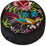 Embroidered Floral Travel Jewelry Case