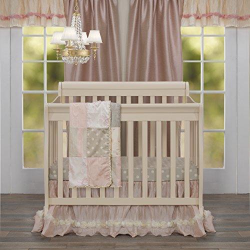 Contessa Mini - Glenna Jean Contessa Mini Crib 2 Piece Starter Set Includes Crib Skirt and Fitted Sheet, Pink, Mini