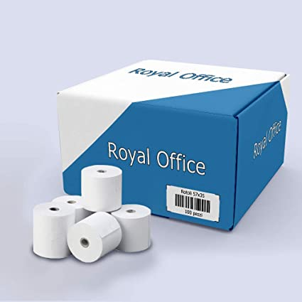 RoyalOffice rollos térmicos 57 x 35 m para grabadores de caja POS ...