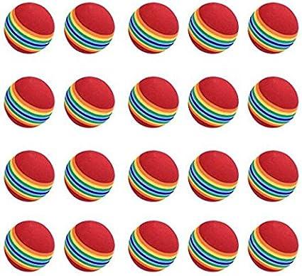 nicebuty práctica pelotas de golf, 20 unidades, espuma, color ...