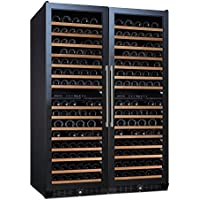 (DR) NFINITY PRO Double L 166-Bottles Wine Cellar, Dual-Zone Cooler w/ Glass Door (S1011)