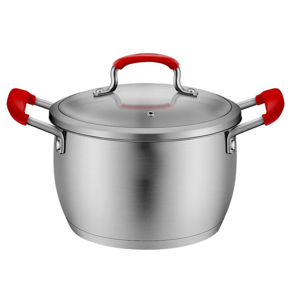 WHS Cookware Sopa de cacerola Cacerola Cacerola de acero inoxidable Sopa olla Estufa de cocción Cocina de inducción Estofado de regalo Sopa olla olla 20CM Regalo del día de la madre