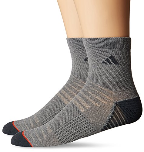 adidas Mens Superlite Speed Mesh Quarter Socks (2 Pack)