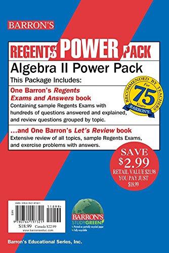 Algebra II Power Pack (Regents Power Packs)