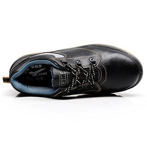 rismart Unisex Women Men Genuine Cow Leather Steel Toe Cap Groundwork Construction CST Safety Shoes SN1610 US7.5 VSQy0rr