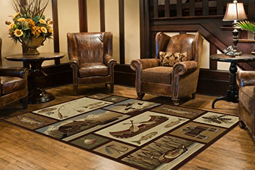 Universal Rugs Lodge Novelty Brown product image